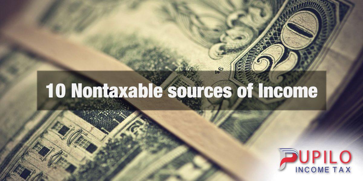10 nontaxable sources of income pupilo income tax